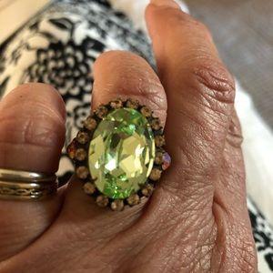Sorrelli Jewelry - Sorrelli Crystal Adjustable Oval Ring